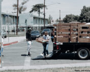 Food Bank helping truck unload